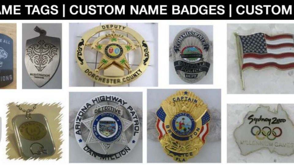 Custom Name Tags, Custom Name Badges and Custom Lapel Pins
