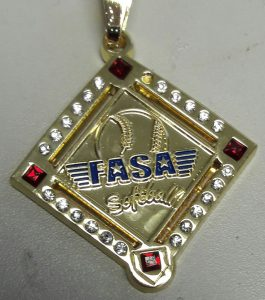 Custom FASA Softball Pendant