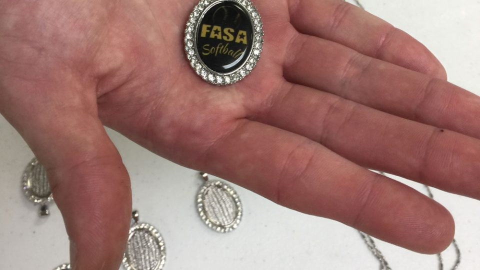 Custom Softball Charms for FASA Organization
