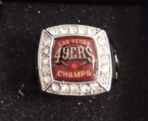 Express Championship Rings - Las Vegas 49ers Champs