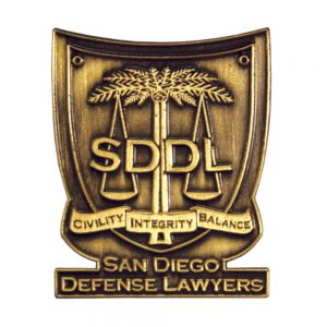 San Diego Defence Lawyers Lapel Pin