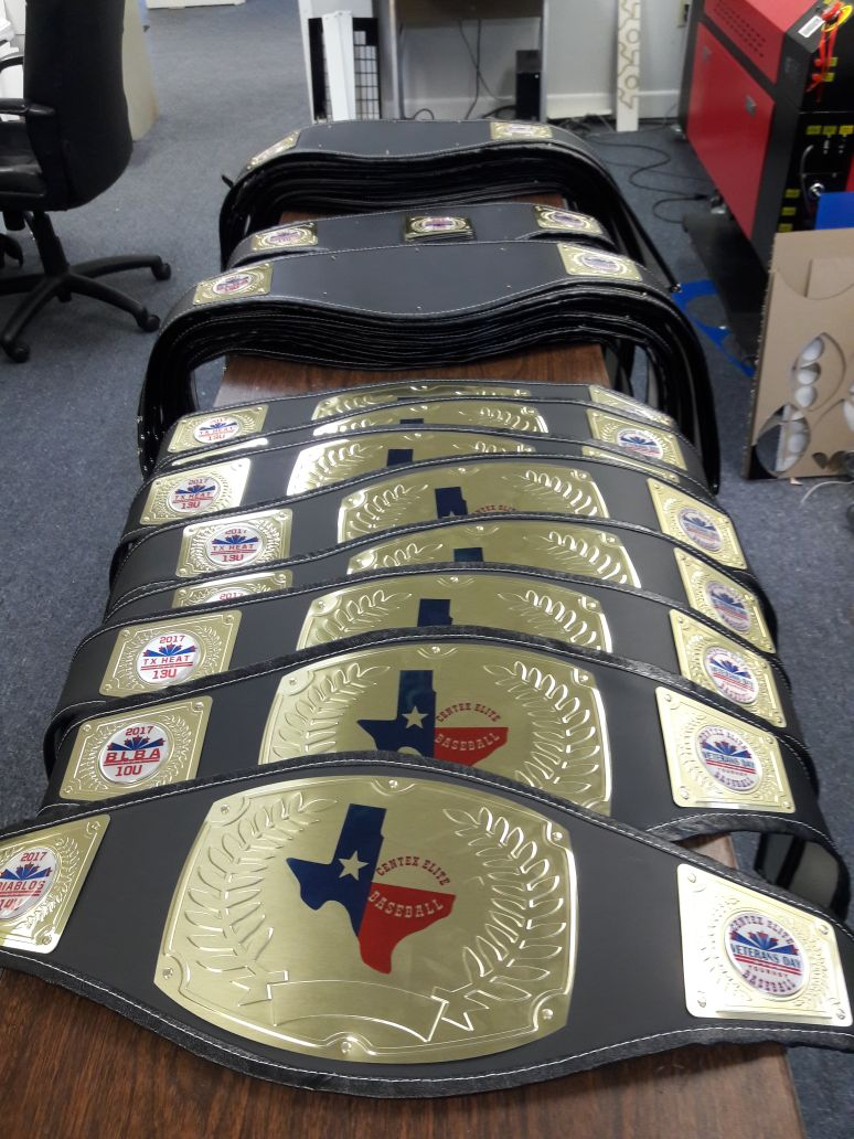 Youth Baseball Championship Belts