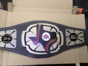 Custom Youth Baseball Championship Belts USA